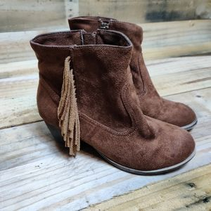 Rock Candy Suede Fringe Cowboy Boots
